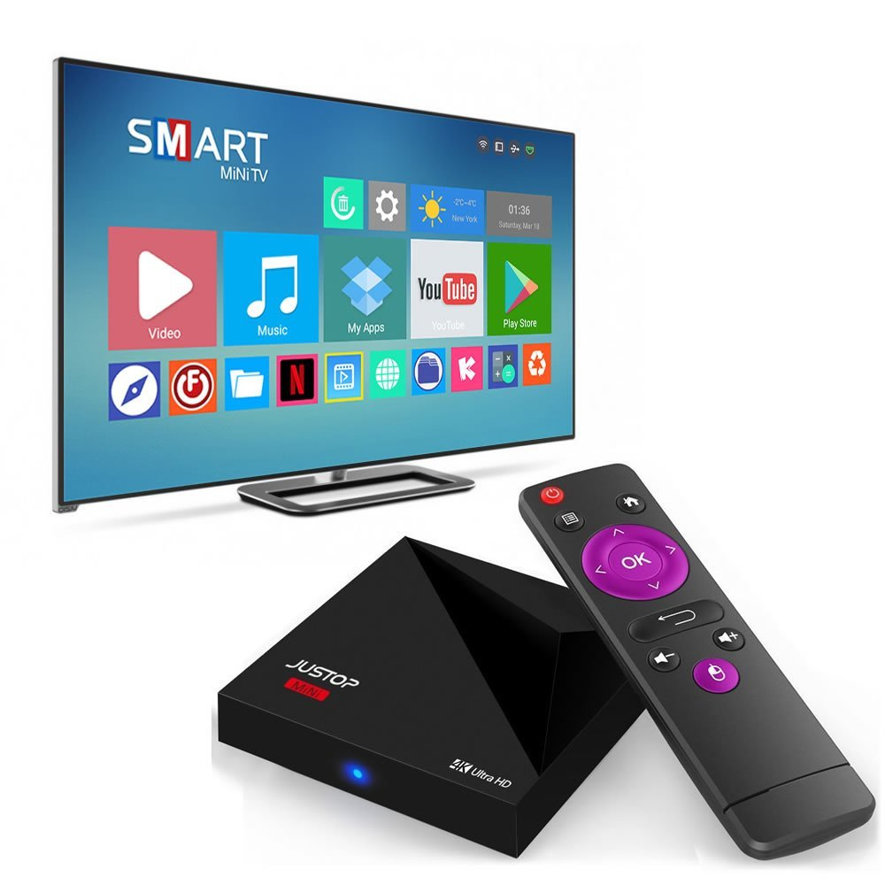 Firmware Upgrade JUSTOP A5X Plus 2GB +16GB Android TV Box TO Android
